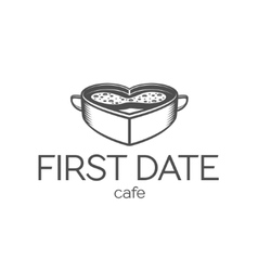 First date cafe logo vector image