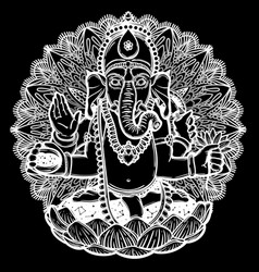 Ganesha hindu god elephant vector