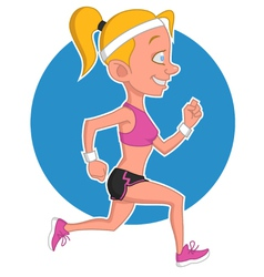 girl runs vector image
