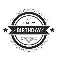 greeting sticker happy birthday isolated icon vector image