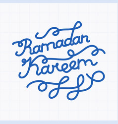 Handwritten congratulation on ramadan vector