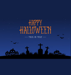 Happy halloween card with grave vector