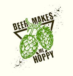 Hop beer design vector