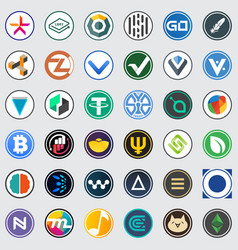 Icon of coin or market emblem vector