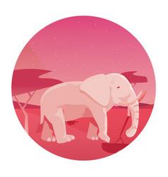 Indian royal elephant in night scene vector