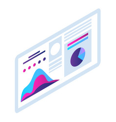 Infographic panel icon isometric style vector