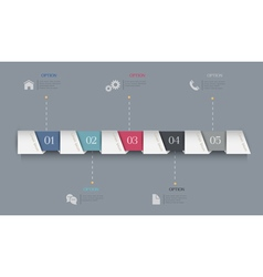 Infographics Options Paper Banners vector