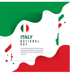 Italy national day template design vector