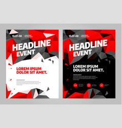 Layout design template for event vector