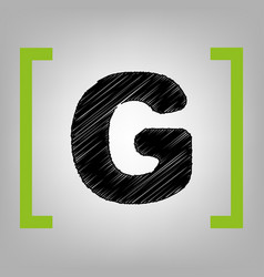 letter g sign design template element vector image