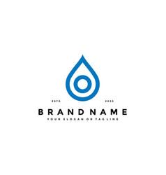 Letter o water drop logo design vector