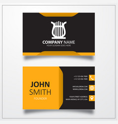 Lyre icon business card template vector