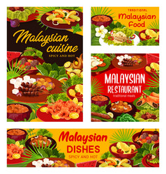 Malaysian cuisine dishes snacks desserts vector