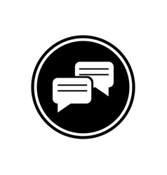messaging round glyph icon chat icon isolated on vector image