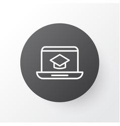 Online education icon symbol premium quality vector
