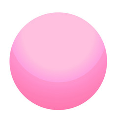 Pink candy ball icon isometric style vector