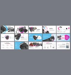 presentation template elements for slide vector image