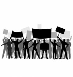 protest group vector image