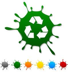 Recycle blot vector image