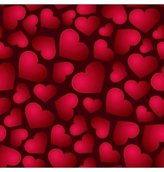 Red Hearts Seamless Background vector image