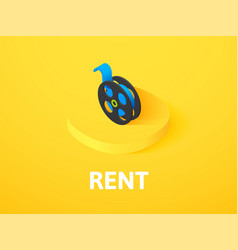 rent isometric icon isolated on color background vector image