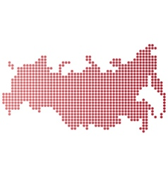 Russia Dot Map vector image