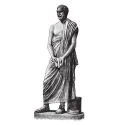 Sculpture of demosthenes vintage vector