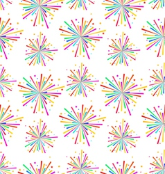 seamless texture with multicolored firework vector image