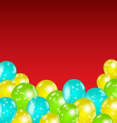 Set colorful balloons for your holiday vector image