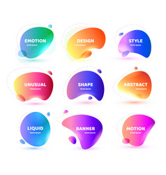 Set modern abstract banner flat vector