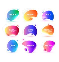 set modern abstract banner flat vector image