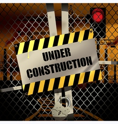Sign under construction vector