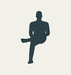 sitting man silhouette vector image