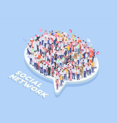 Social network crowd composition vector