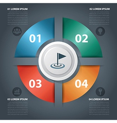 Success business modern circle vector