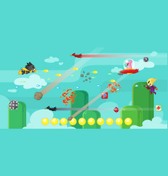Super cat game assets vector