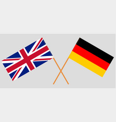 The uk and germany british and german flags vector