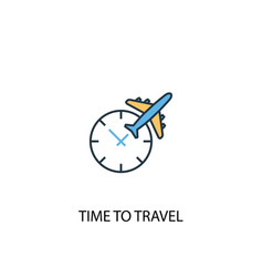 time to travel concept 2 colored line icon simple vector image