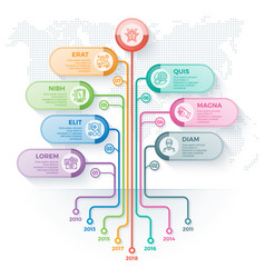 Tree infographics template with 7 branches options vector