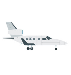turbine aircraft with tail flat material vector image