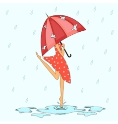 Under the rain vector