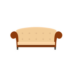 vintage sofa icon flat style vector image
