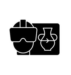 Vr black glyph icon vector