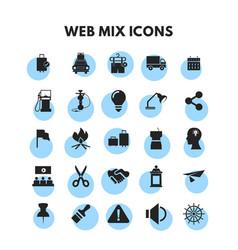 web mix icons set vector image