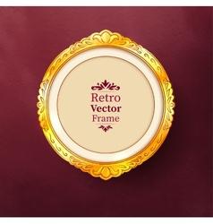 Baroque golden frame vector image vector image