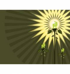 eco light bulb background vector image