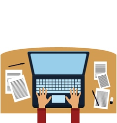 office computer vector image