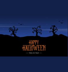silhouette scenery halloween design background vector image