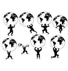 strong man lifting earth vector image