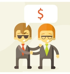 concept of successful partnership money vector image